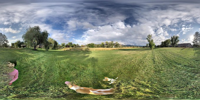 Big Cottonwood Regional Park Photosphere with Detached Puppy Tail and Ghost Girl