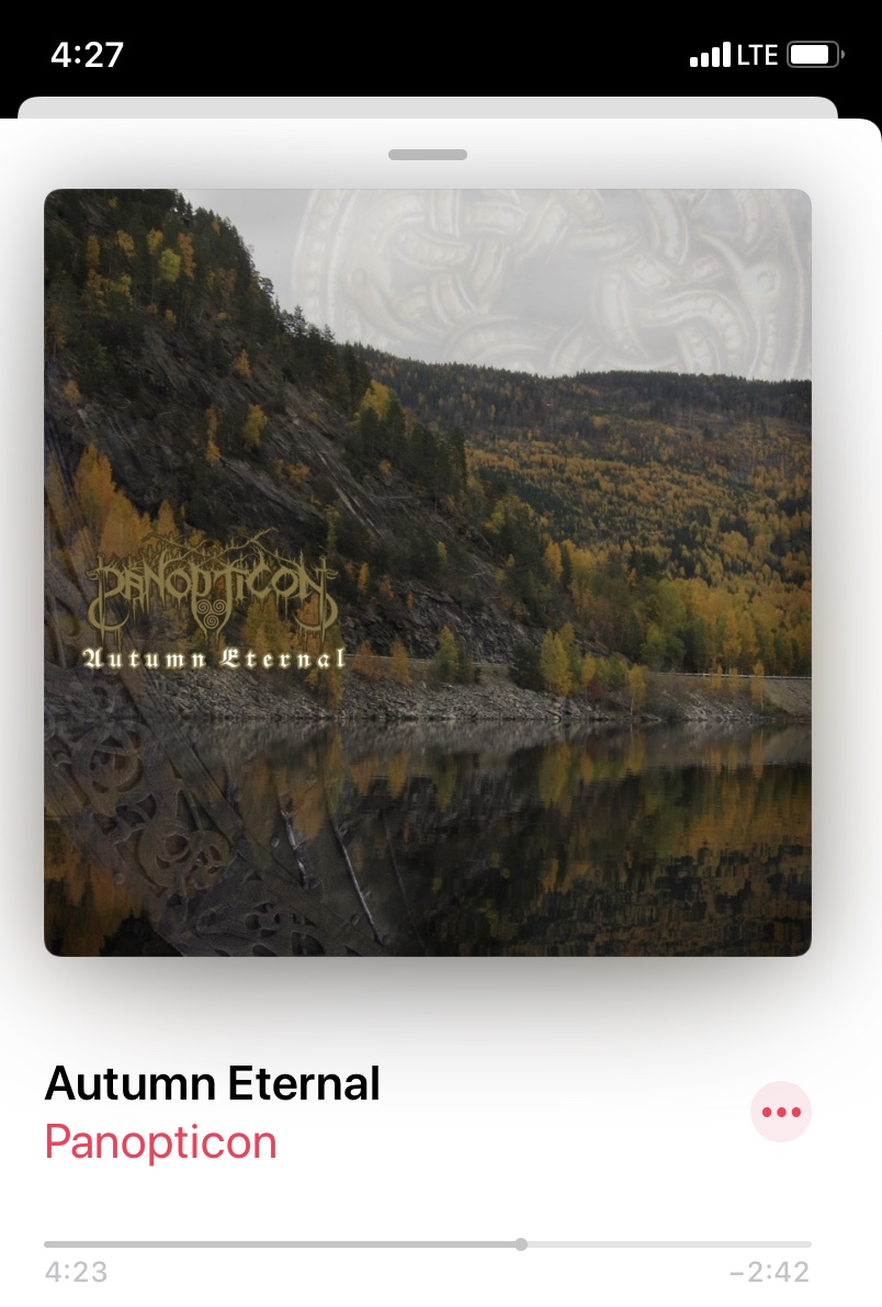 Listening to Autumn Eternal for Fall